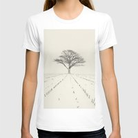 Winter Field Womens Fitted Tee White SMALL