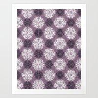 PAISLEYSCOPE Posh (purpl… Art Print