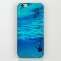 Bottomless blue iPhone & iPod Skin