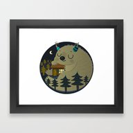 Home Is Where The Monste… Framed Art Print