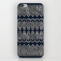 Silvery Striped Doodle iPhone & iPod Skin