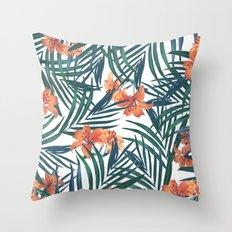 Tropical Lilies Throw Pillow