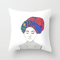 Fashion Illustration 1  Throw Pillow