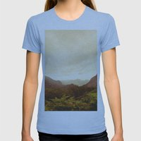 mountains (02) Womens Fitted Tee Athletic Blue SMALL
