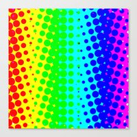 Canvas Print featuring RAINBOW COLOR DOT by Mr.DOT