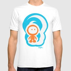 Spaceman 01 SMALL Mens Fitted Tee White