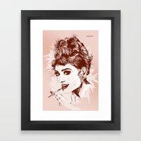 Love For Audrey Framed Art Print
