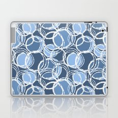 My simple circles in blue Laptop & iPad Skin