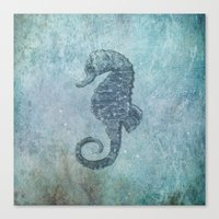 sea & horse Canvas Print