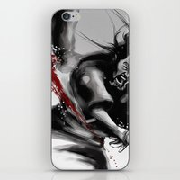 Samurai fight iPhone & iPod Skin