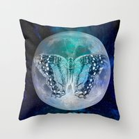 MOON BUTTERFLY Throw Pillow