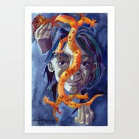 The Illustrator Dies Fir… Art Print
