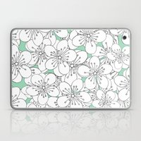 Cherry Blossom With Mint… Laptop & iPad Skin