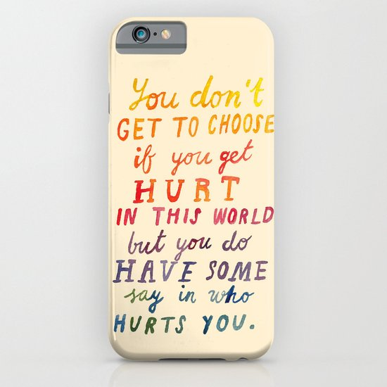 If You Get Hurt Poster iPhone & iPod Case