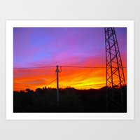 Sunset from my house Art Print