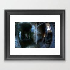 Horror hallway Framed Art Print