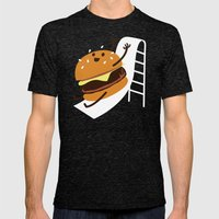Slider Burger Mens Fitted Tee Tri-Black SMALL