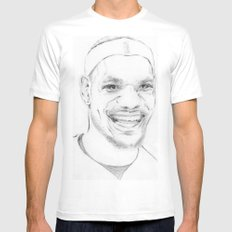 Lebron James SMALL White Mens Fitted Tee