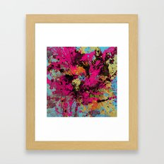 Express Yourself IV - Abstract, oil painting Framed Art Print