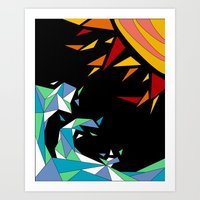 Sun and Wave Art Print