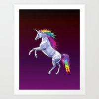Geometric Unicorn Art Print
