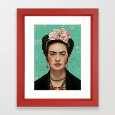 Frida Kahlo Portrait II Framed Art Print