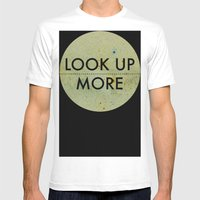 Look Up More Mens Fitted Tee White SMALL