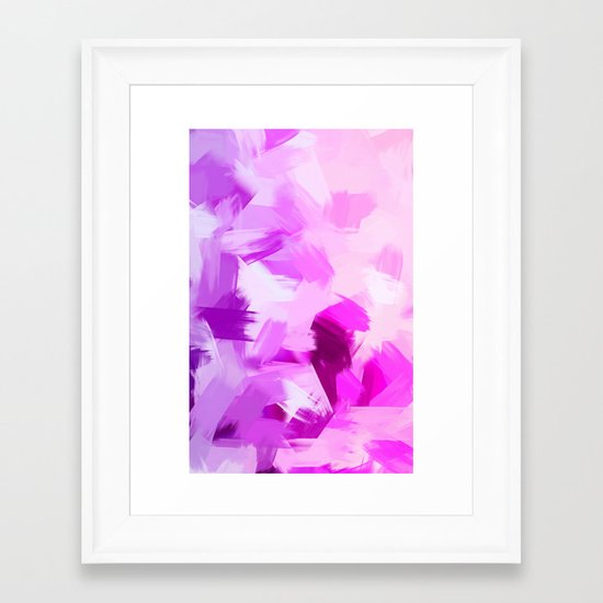 BLOSSOMS - VIOLET Framed Art Print