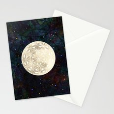 The Flower of Life Moon 2 Stationery Cards
