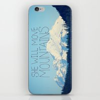 She Will Move Mountains iPhone & iPod Skin