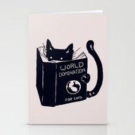 Stationery Cards featuring World Domination For Cat… by Tobe Fonseca