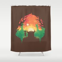 Sunset with a friend Shower Curtain