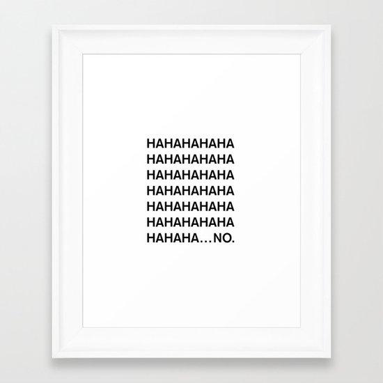 HAHA Framed Art Print