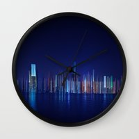 Miami Skyline Abstract Wall Clock