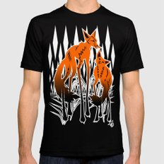 Foxes Mens Fitted Tee Black SMALL