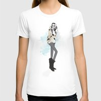Fall Girl Womens Fitted Tee White SMALL
