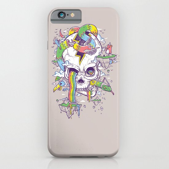 Flying Rainbow skull Island iPhone & iPod Case