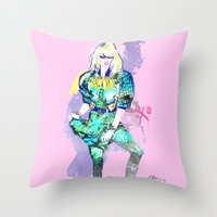 Hedda In Motion XO Throw Pillow