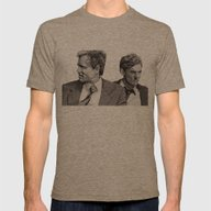 True Detective Mens Fitted Tee Tri-Coffee SMALL