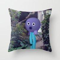 Testa a palla Throw Pillow