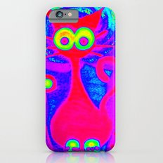 Psychedelic Cat iPhone 6s Slim Case