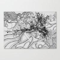 Magic Force / Original A4 Illustration / Pen & Ink Canvas Print