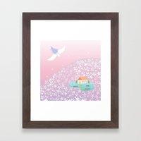 flower hill Framed Art Print