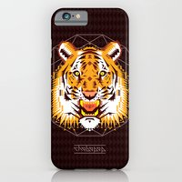 iPhone & iPod Case featuring Geometric Tiger by chobopop