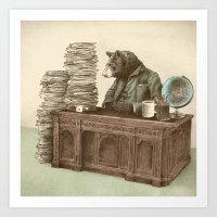 Bearocrat Art Print
