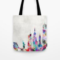 Tote Bag featuring New York by Mareike Böhmer Grap…