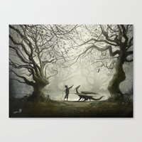 The Boy And His Dragon Canvas Print
