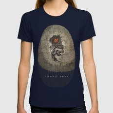 Jurassic Alternate Womens Fitted Tee Navy SMALL