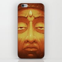 Buddha II Gold iPhone & iPod Skin