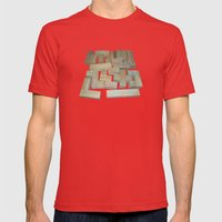 Mosaik 1.1 Mens Fitted Tee Red SMALL